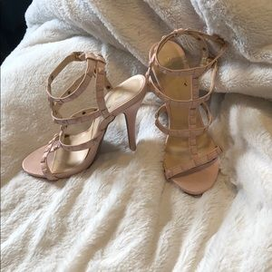Light Pink Strappy Studded Heels